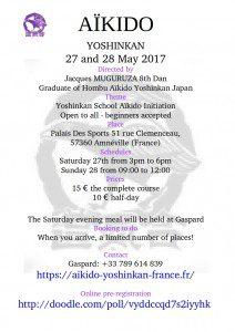 Affiche stage Amnéville 27 28 mai 2017 en anglais
